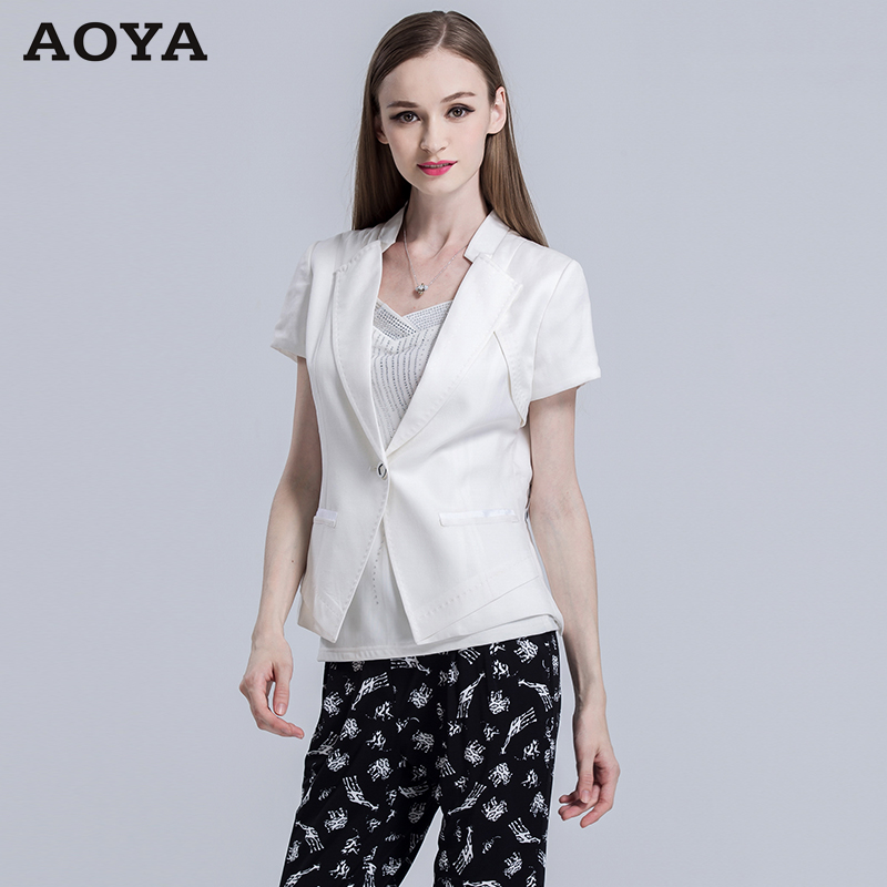 e82cf46a6b Get Quotations · Aoya hoya edenrose ramie viscose breathable white sweat  cool summer sunscreen small suit leisure