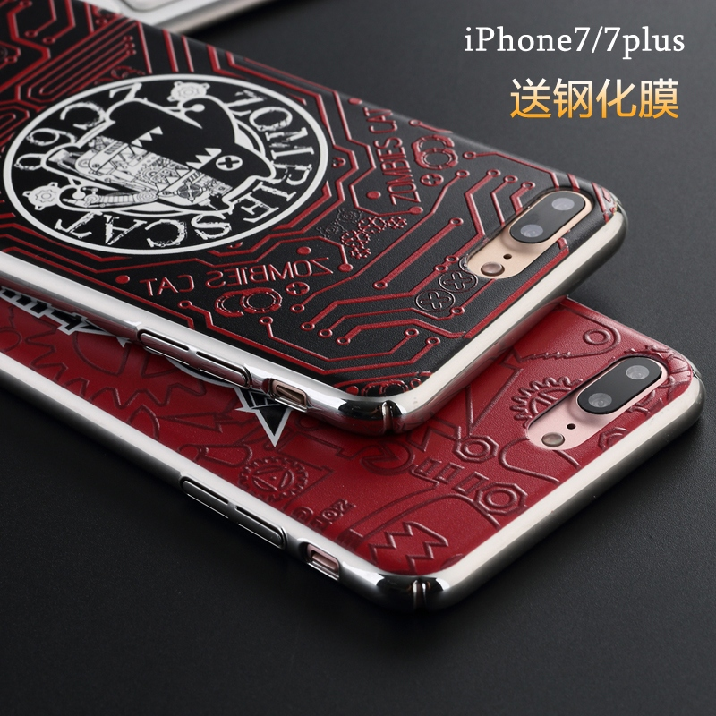 Apple 7 devil cat iPhone7 7plus phone shell thin matte shell protective shell phone shell drop resistance creative seven