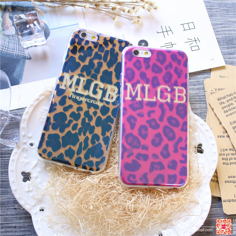 Apple s blu-ray full edging soft shell phone shell leopard mlgb tide brand iphone6 plus thin shell
