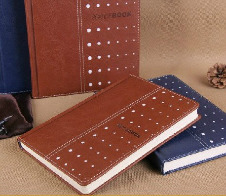Archaized creative dot leather notebook notepad business meeting of the student diary bowen a5/b5