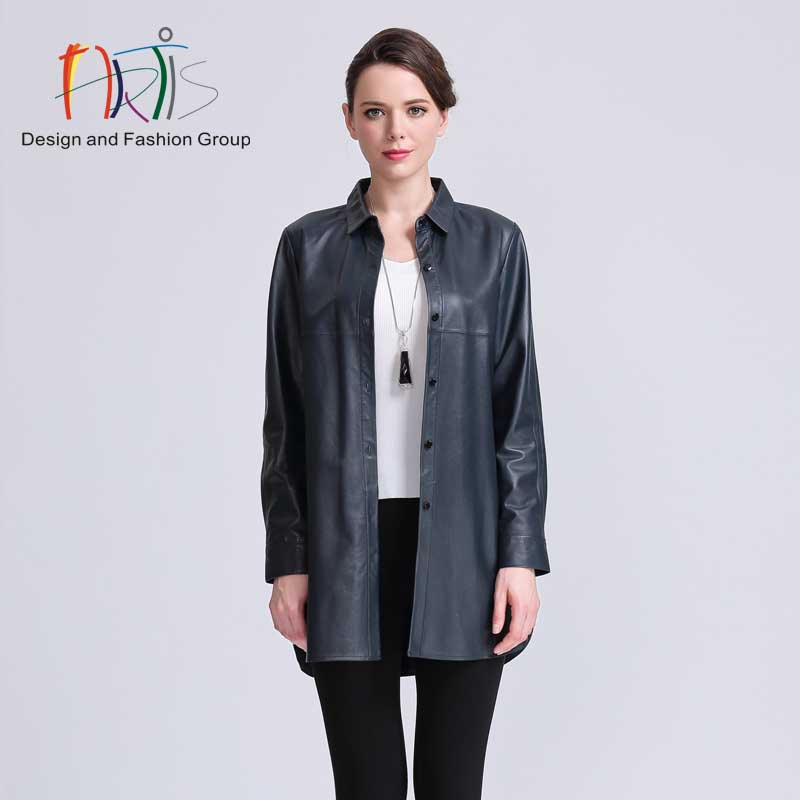 Artis artis ladieswear malls the same paragraph shirt concise paragraph leather 3946001-394005