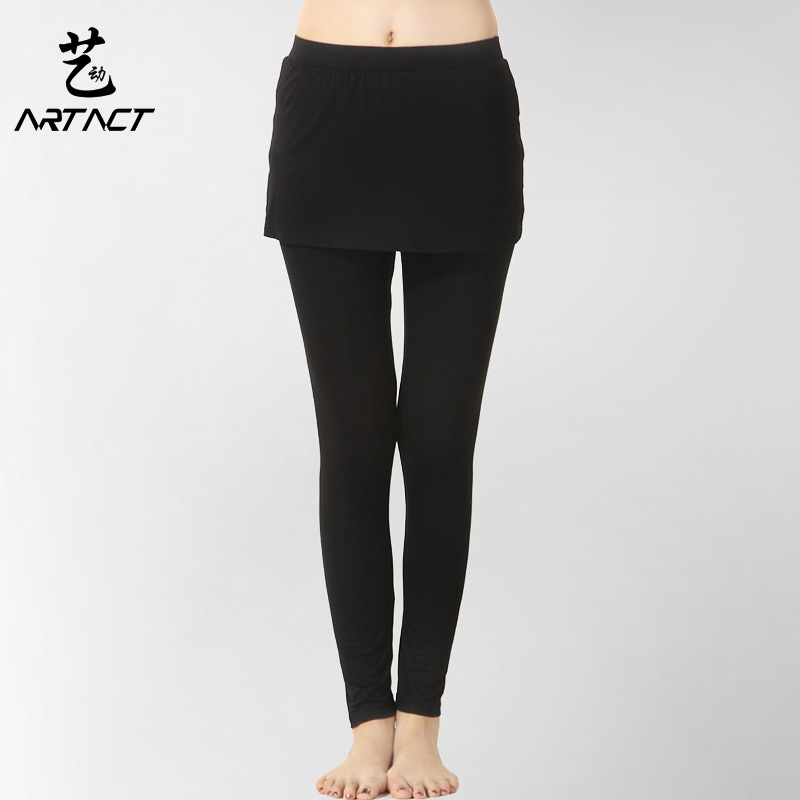 Arts moving yoga pants spring and summer new fake two package hip skirt bottoming stretch pants yoga pants pants female sports and health body