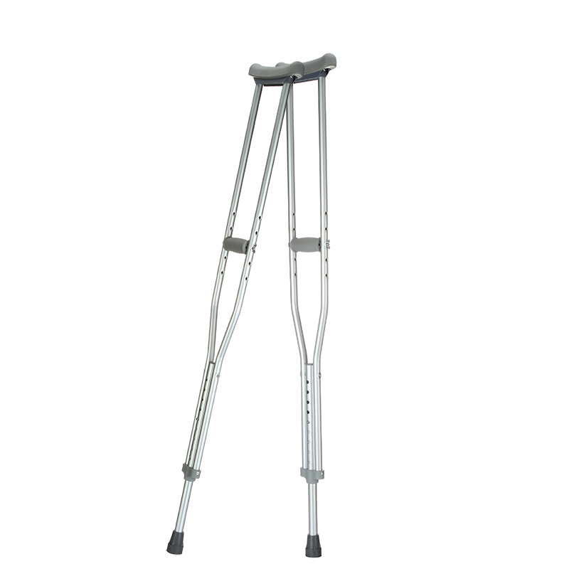 As early as 921 thick aluminum telescopic adjustable axillary crutches underarm crutches slip lightweight adjustable height
