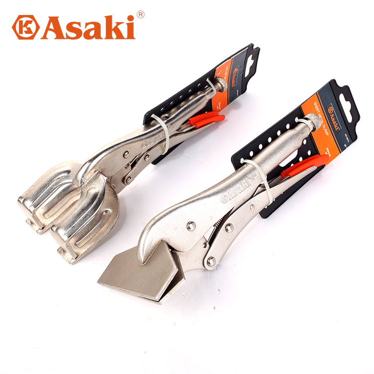 Asaki/asaki welding pliers flat nose pliers flat tsui welding clamp fixed clamp pliers effort
