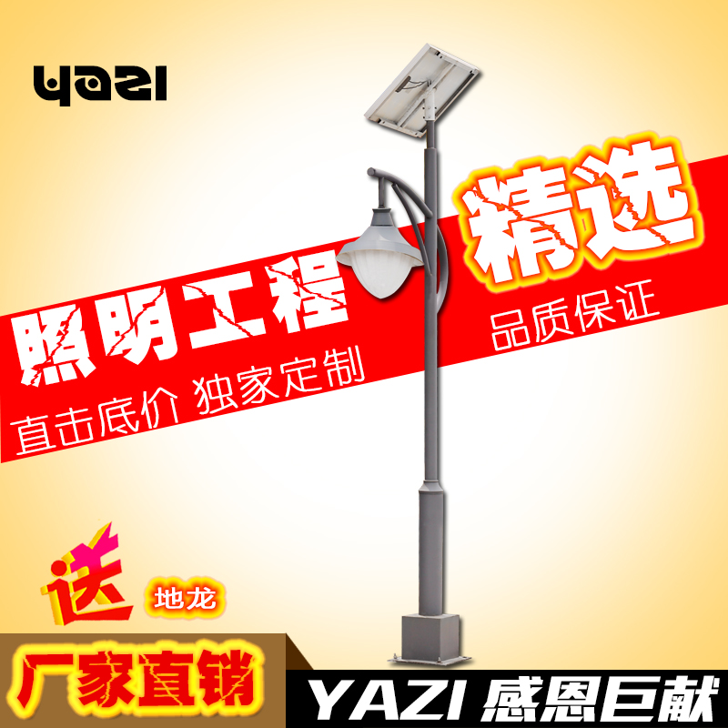 Asian custom purple 3 m 4 m new rural solar led street lamp road lights garden lights outdoor pole