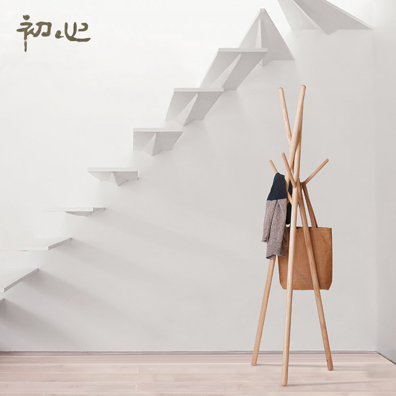 At the beginning of the creative heart imported beech hangers bedroom modern minimalist living room wood floor coat rack hanger
