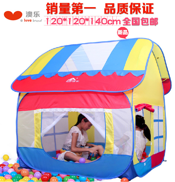 Australia le play house children's tent portable magic toy baby princess house large ocean ball pool game house free shipping