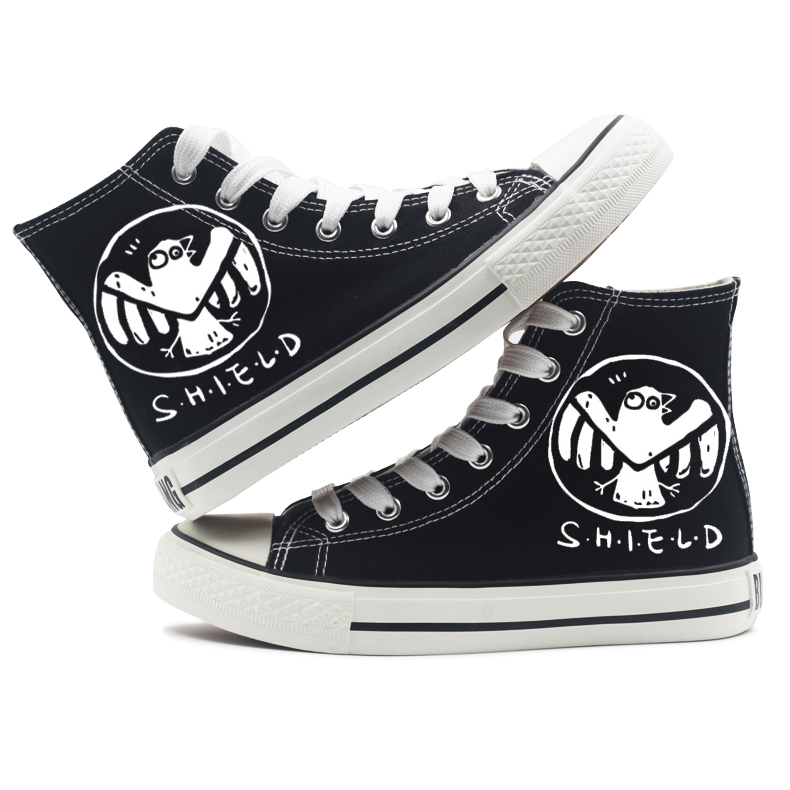Australia official step s.h.i.e.l.d. agents new couple big yards autumn canvas shoes men high shoes casual flat shoes