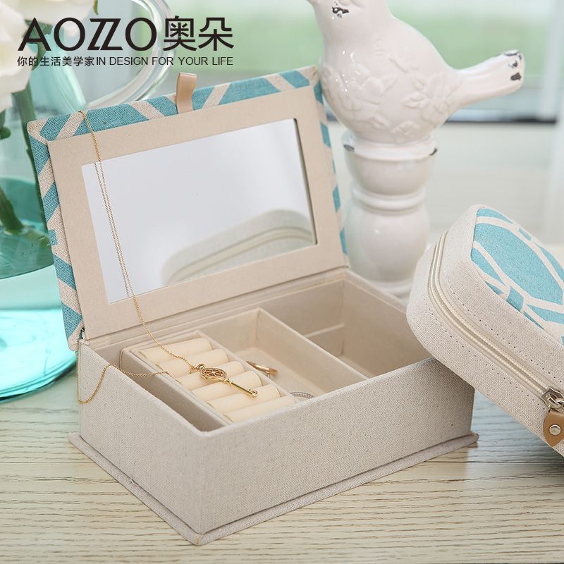 Austrian duo american upscale linen storage box cosmetic box jewelry storage box bedroom living room home accessories gift ornaments