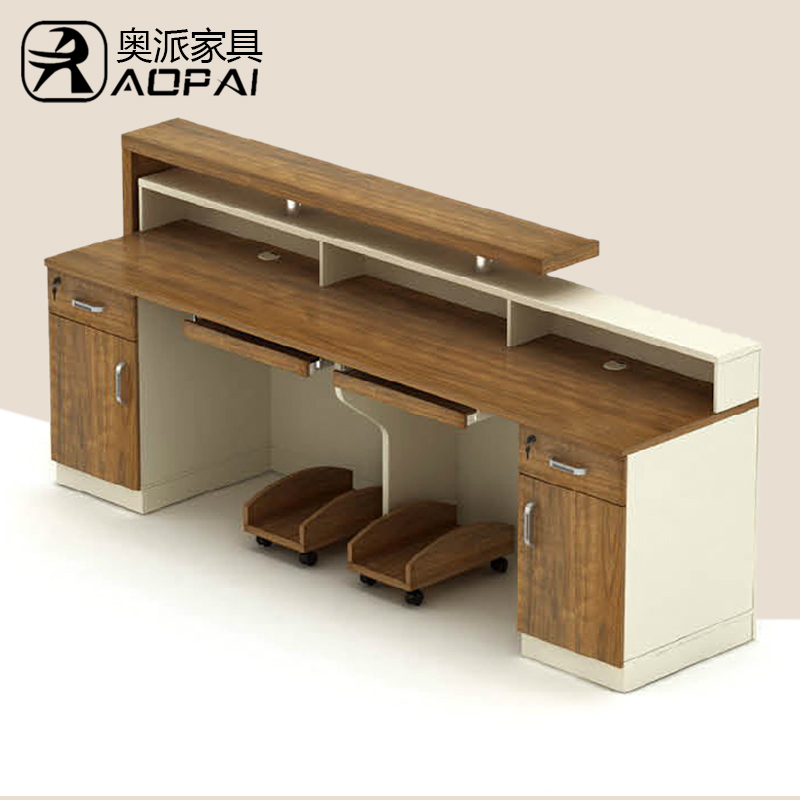 Austrian office furniture fashion plate reception desk square stylish reception desk factory direct special