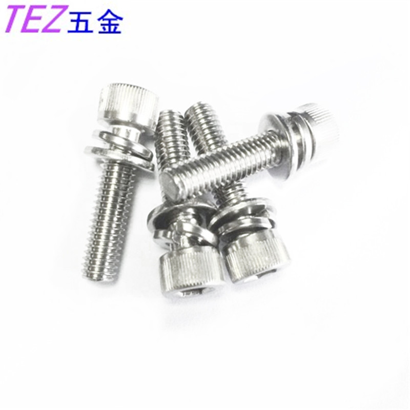 Authentic 304 stainless steel inner cylinder head hex screws trio m4 series