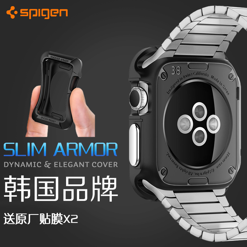 Authentic korean spigen apple iwatch armor shell protective sleeve protective shell apple smart watch