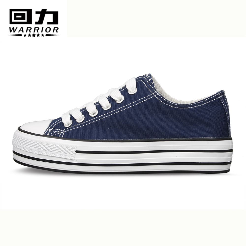 Authentic shanghai warrior shoes canvas shoes women shoes thick crust muffin shoes to help low solid shoes casual female student