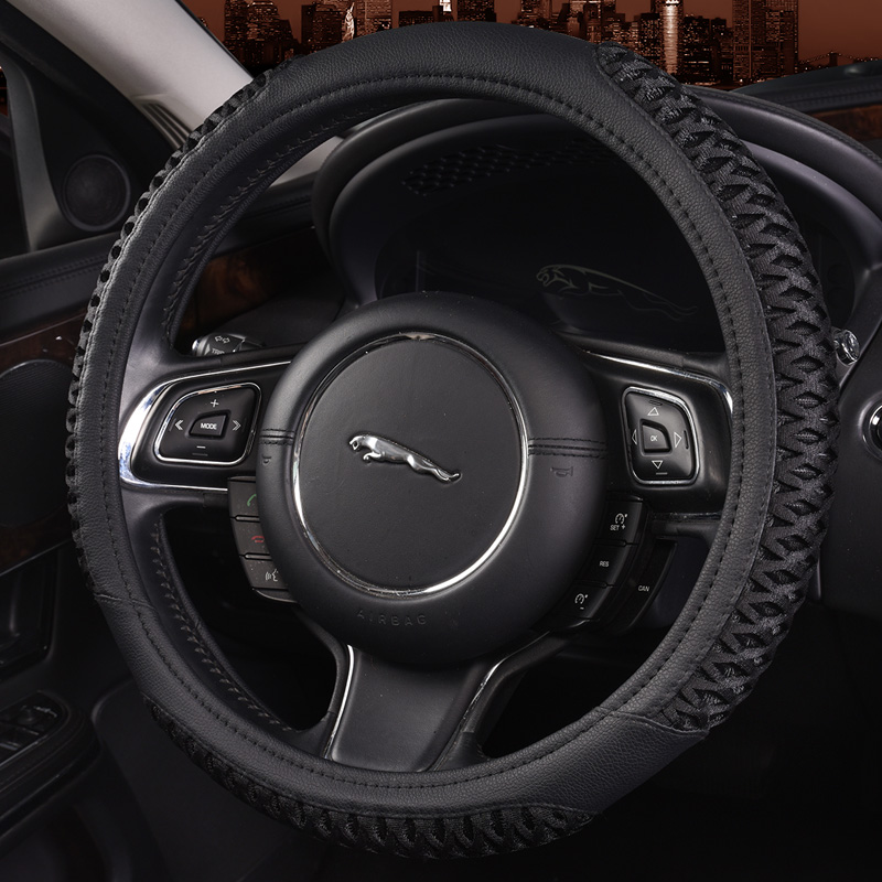 Automotive leather steering wheel cover to cover applicable to modern ix35 lang rena moving sonata rand iraq to cover four seasons