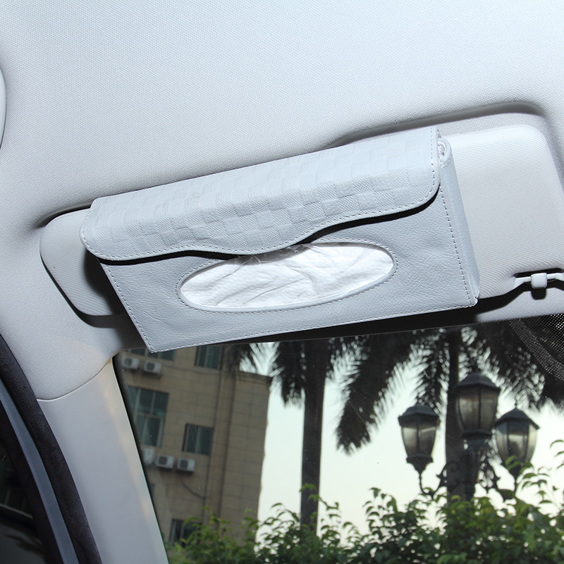 Automotive leather tissue box tissue pumping car pumping paper box car sun visor hanging toilet paper napkin box sets