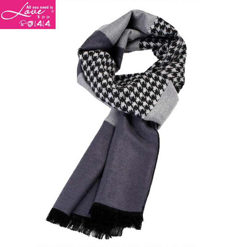a402b79b52b04 Get Quotations · Autumn and winter fashion european style houndstooth scarf  blanket big classic black and white plaid wool