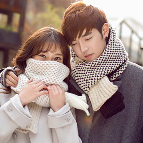 Autumn and winter influx of men's british style korean version of a long section of thick wool scarf knitted scarf scarf female couple of young people