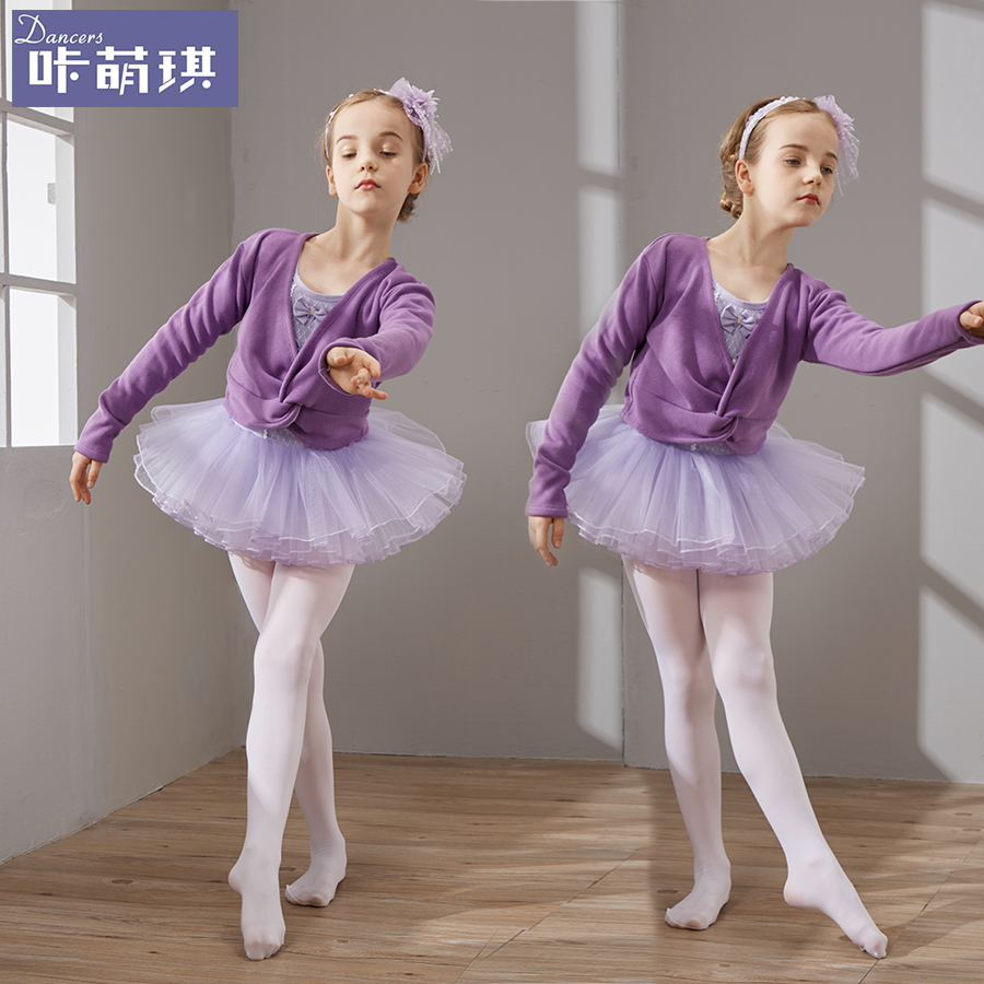 e8cee5ada807d Get Quotations · Autumn and winter long sleeve children's dance clothing  girls clothes infant clothes and children's ballet skirt