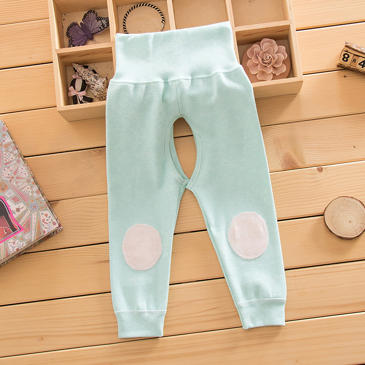 Autumn baby care belly waist pants stretch cotton underwear open file pants baby care belly pants spring and autumn male and female children