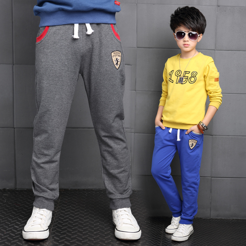 Autumn boys sports pants big boy pants boy 12-15-year-old models fall 2016 new children's spring and autumn trousers