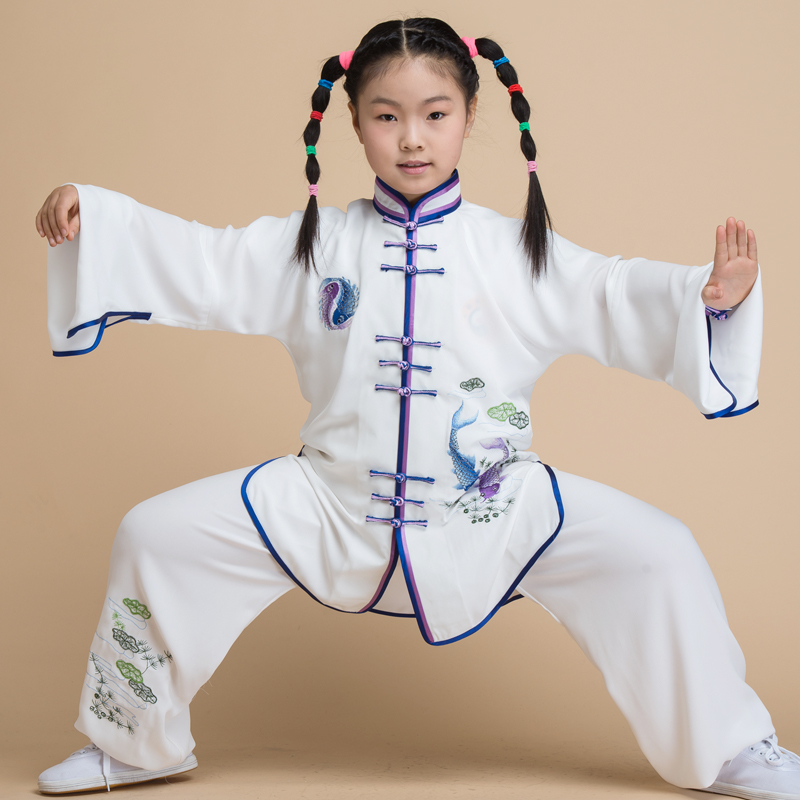 Autumn chenjiagou jiajia cotton tai chi clothing embroidery clothes and tai chi martial arts competition show clothing children clothing morning