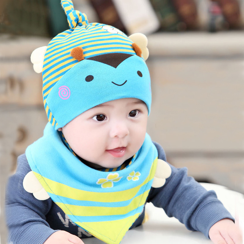 Autumn months newborn baby hat hedging cotton baby hat baby sleeping hat cartoon cute free shipping