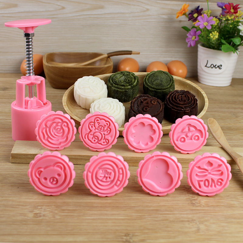 Autumn moon cake moon cake mold hand pressure snowy moon cake 50g 75g mung bean cake mold baking tools