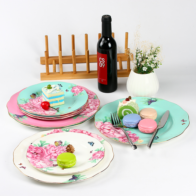 Avalon continental bone china tableware creative breakfast snack cake western dish fruit plate ceramic household