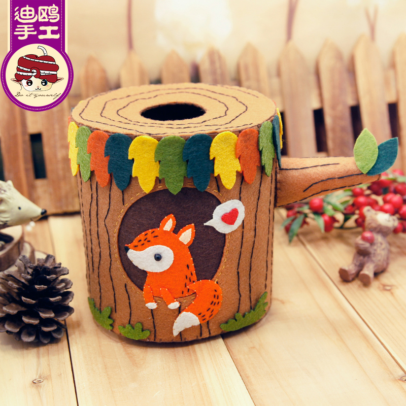 Avoid cutting di gull look happy paper drawn box tissue pumping paper diy handmade cloth material package produced