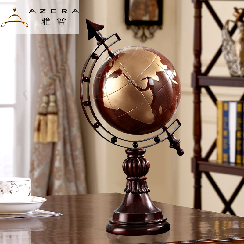 Azera globe ornaments american retro model home crafts opening gifts office desktop gift