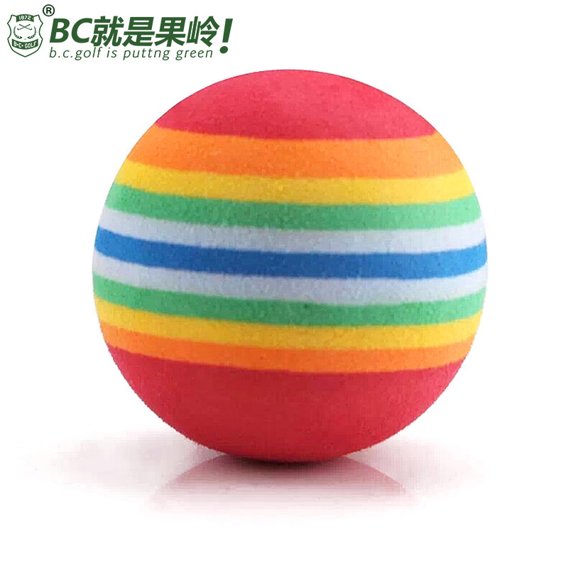 B. c. golf indoor golf practice balls rainbow sponge ball soft ball practice balls for children