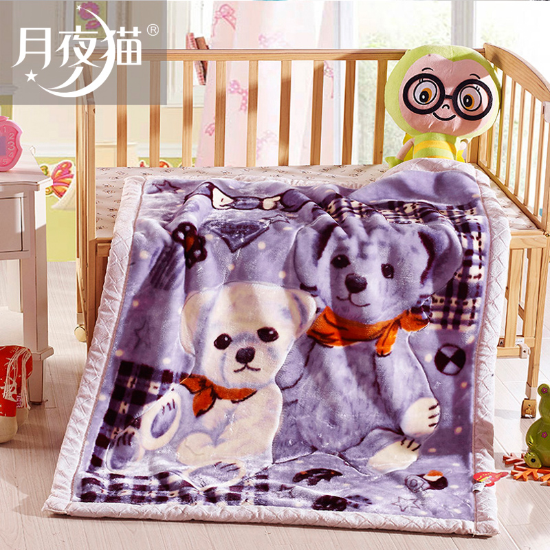 Baby blanket baby blankets double thick blanket of winter can love cartoon children kindergarten nap blanket raschel