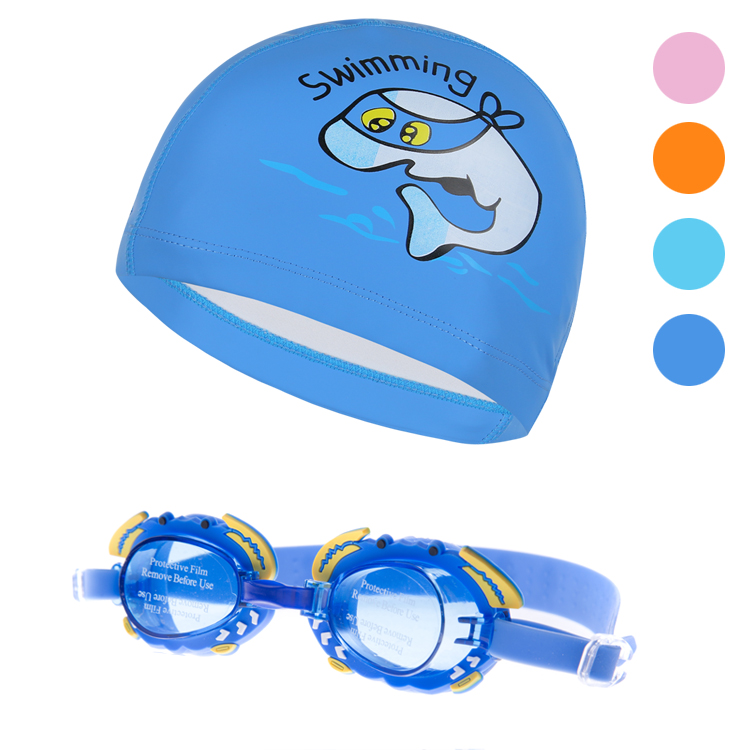 Baby boys and girls children's goggles swimming goggles swimming cap suit water fog swimming goggles children swimming cap swimming cap