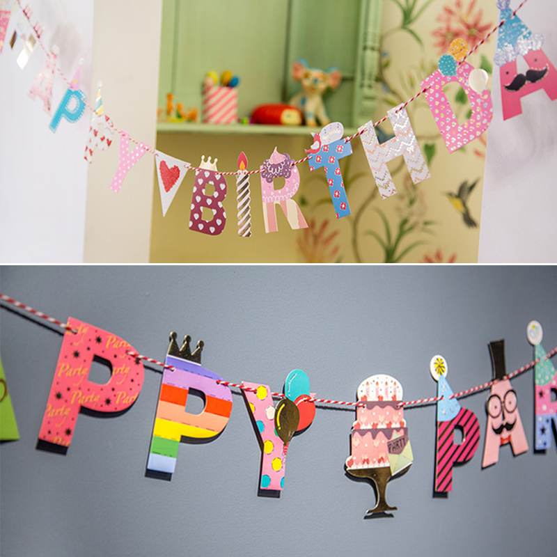 Baby child festive wedding supplies creative marriage room layout decorative garland birthday party bunting mr. beard