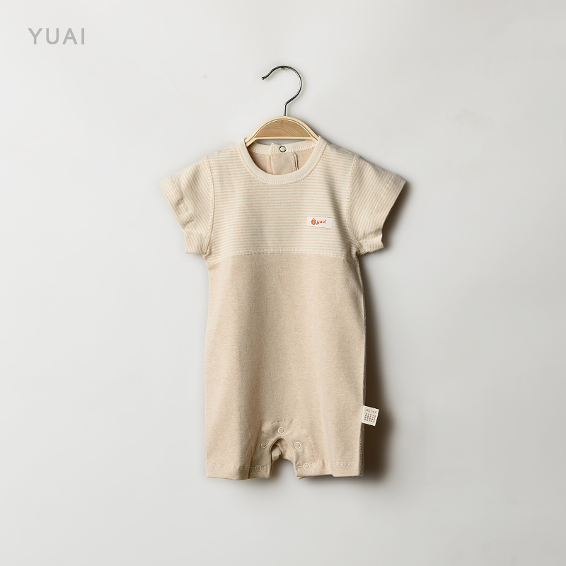 Baby clothes baby summer baby coveralls 0-1-year-old thin short sleeve romper climbing clothes infant summer climb clothes