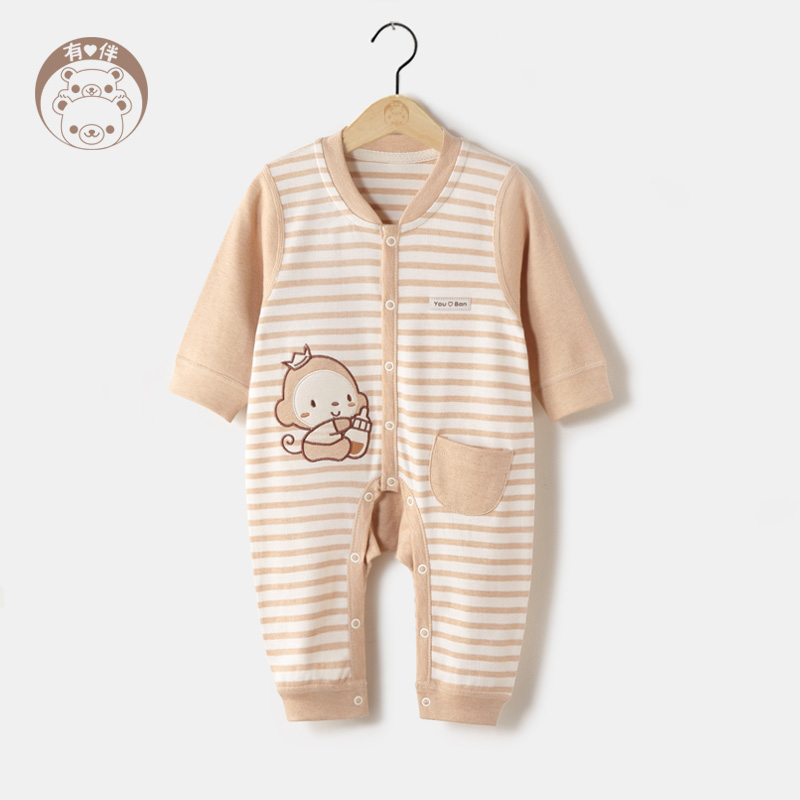 Baby coveralls spring and autumn long sleeve cotton newborn baby coveralls cotton baby romper climbing clothes sack