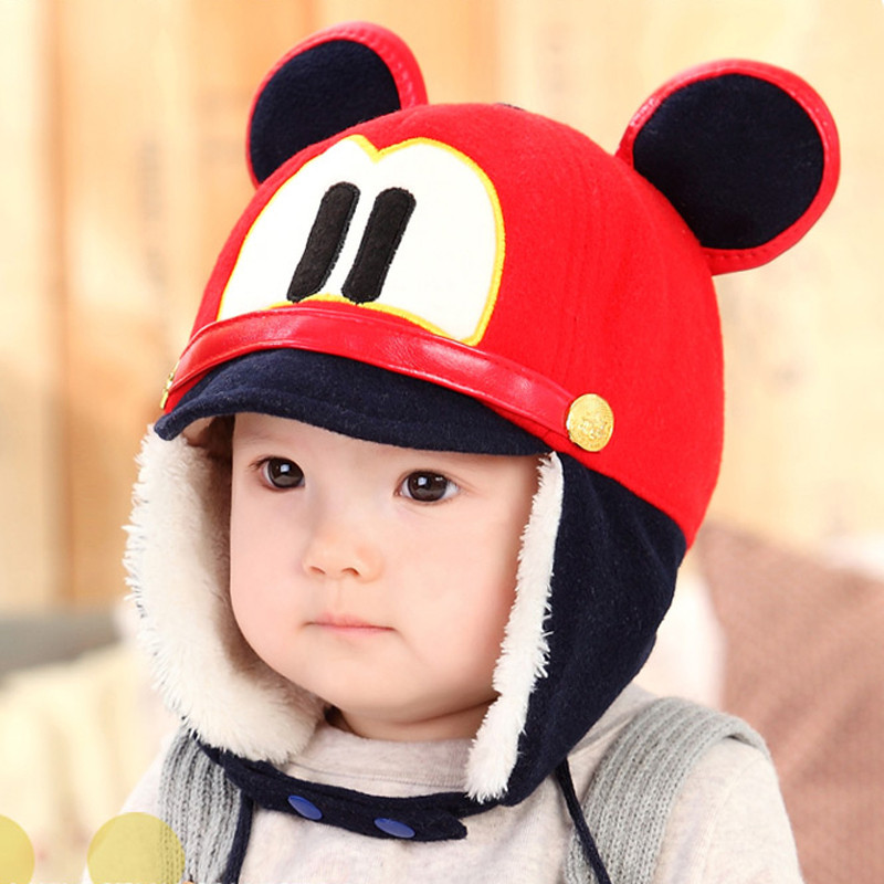 Baby hat baby hat dongkuan 1-2-year-old infants and children boys and girls korean children lei feng cap ear warm hat tide shipping