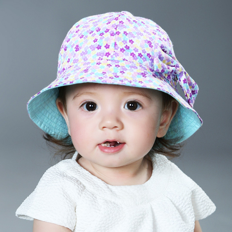 793f375e7d3f6 Get Quotations · Baby pots hat to wear on both sides of the new korean  version of sweet floral