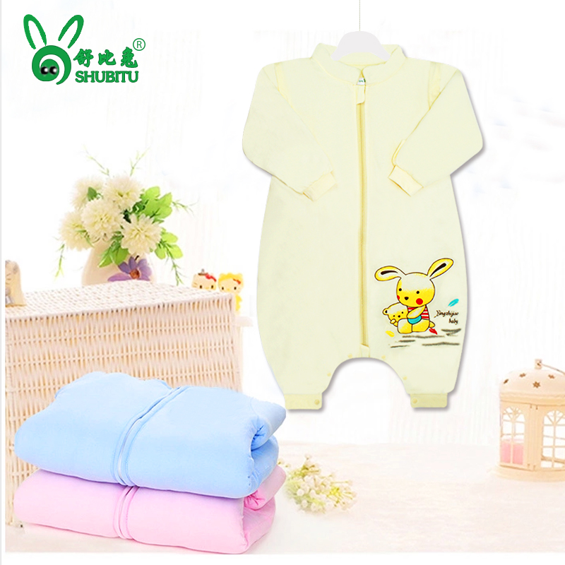 Baby sleeping baby in autumn and winter thick cotton newborn baby sleeping bag children sleeping bag anti tipi removable sleeve baby sleeping bags legs