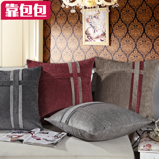 Get Quotations Bags By Euclidian Thick Chenille Sofa Cushions Headboard Large Backrest Lumbar Pillow Pillowcase