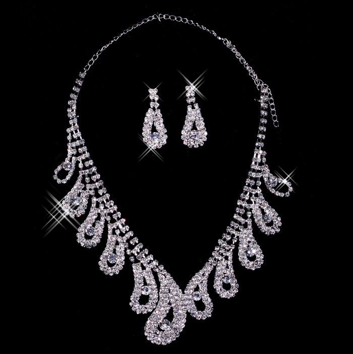 Bai approximately necklace bridal necklace earring piece bridal jewelry accessories XL11014