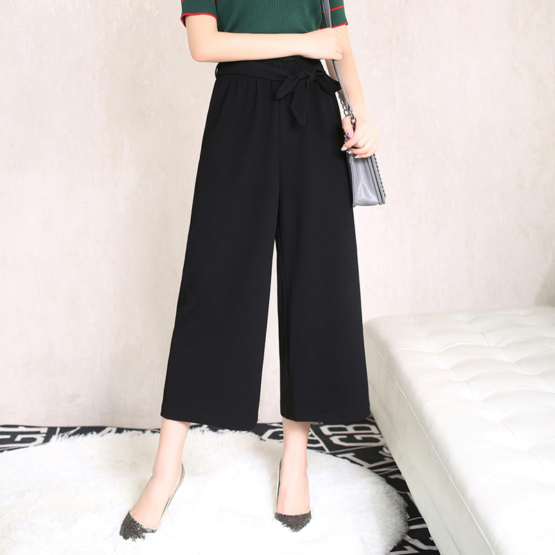 Bai mei wai 2016 korean version of spring and summer new wide leg pants trousers korean version was thin big yards wide loose casual straight jeans tide