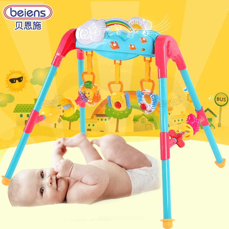 Bain shi multifunctional children's music fitness frame baby rattles fitness thanmonolingualsat 0-1-year-old infants and young children toys
