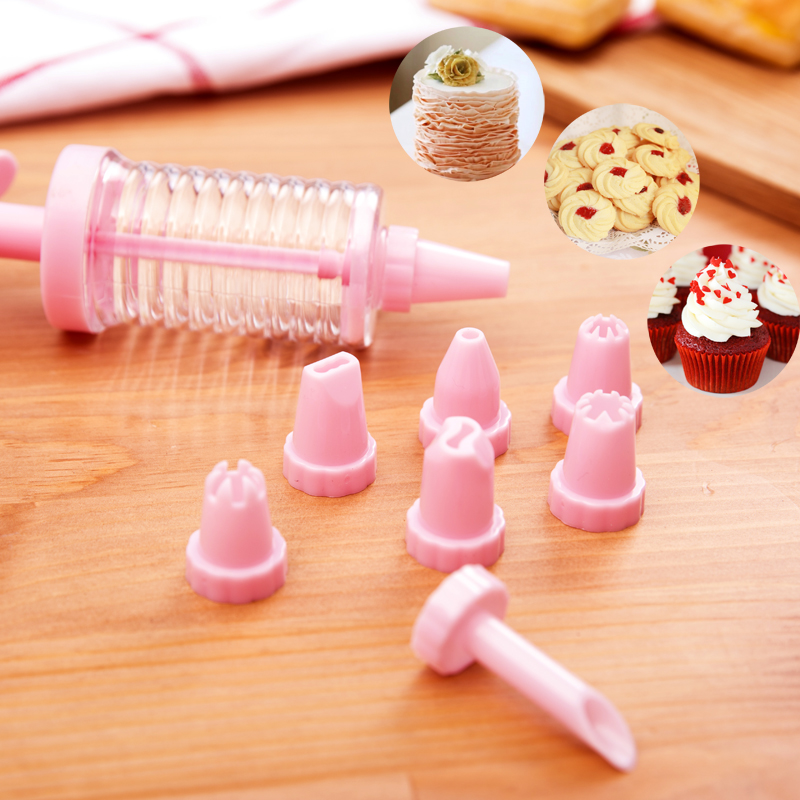 Baking tools decorating gun multipurpose 8 decorating kit mouth cake cookies puff pastry tips cone