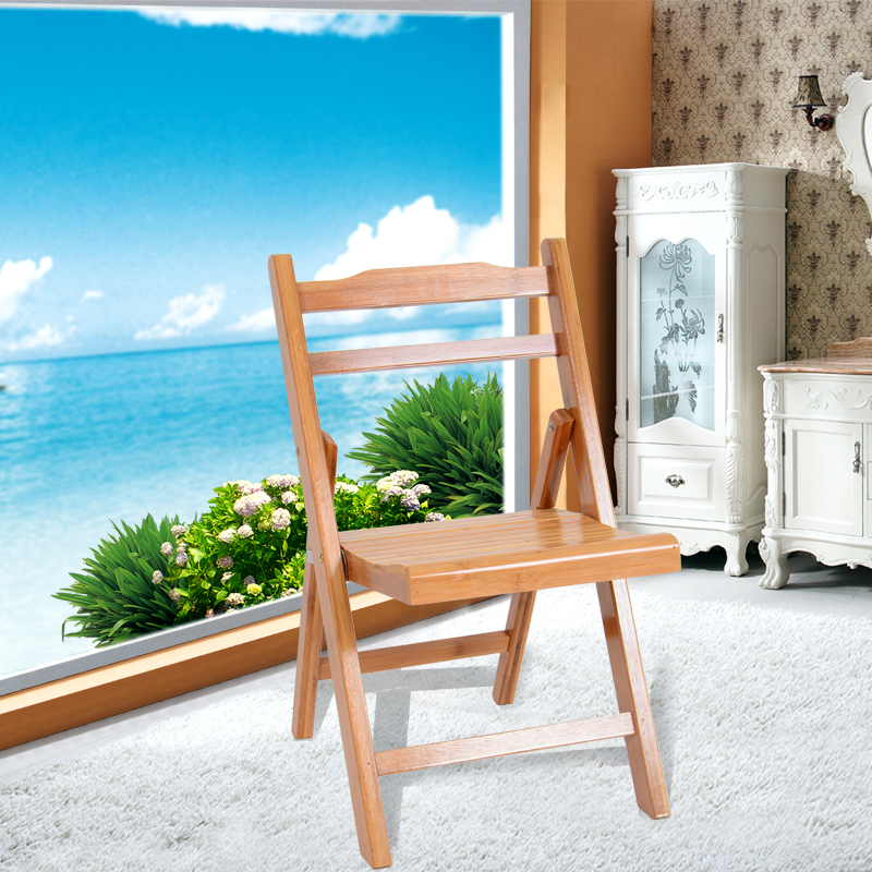 Bamboo folding chair children's chairs solid wood stool stool stool small chair learning chair dining chair study chair stools
