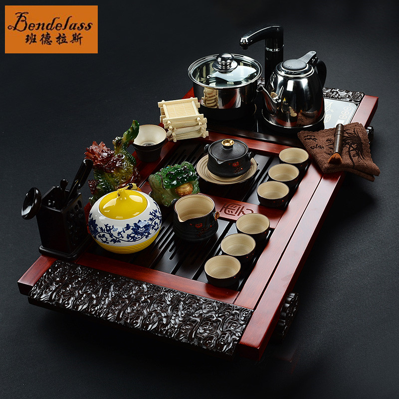 Banderas entire kung fu tea set four cooker tea ebony rosewood tea tray kit
