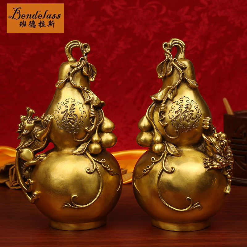 Banderas opening modern fu feng shui copper gourd gourd ornaments brave gourd crafts ornaments tuba