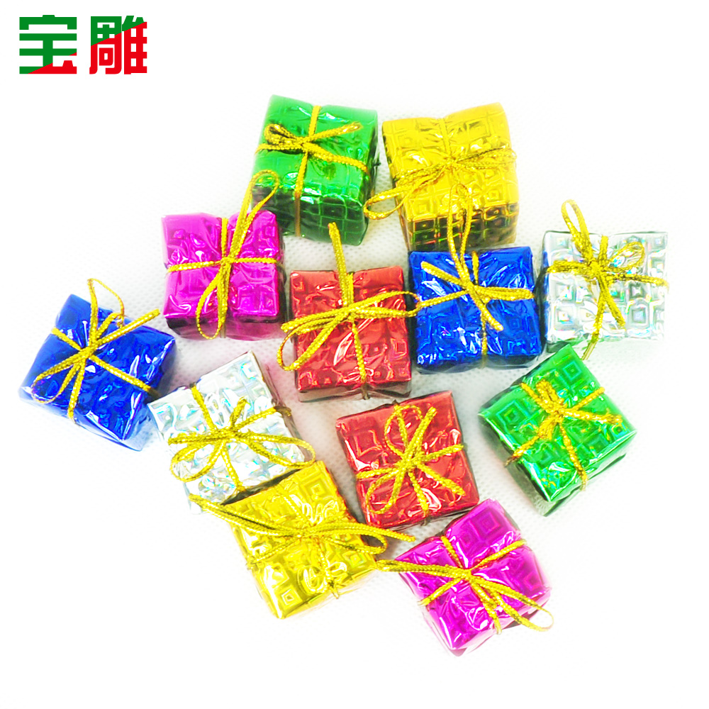 Bao carved christmas tree decorations christmas tree ornaments accessories small colored packs gift packs 12/pack