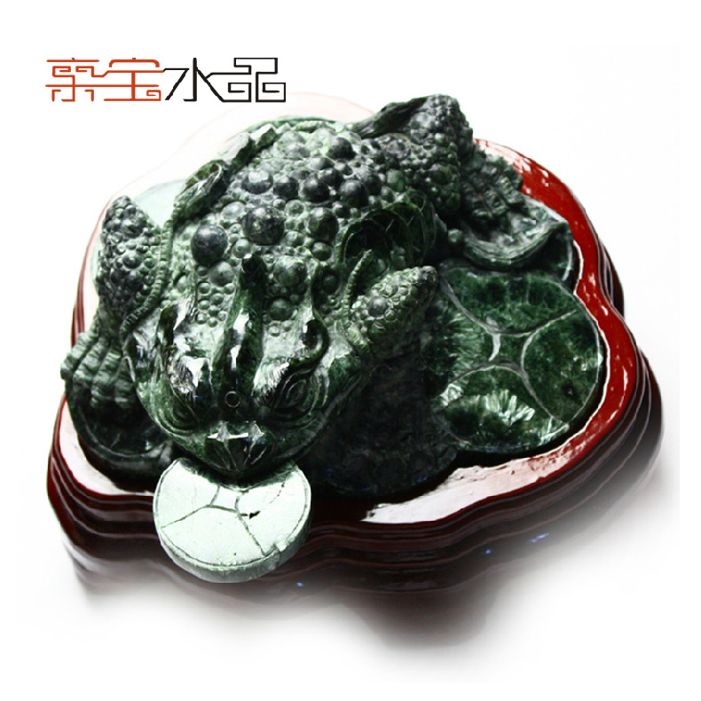 Bao crystal pro collection treasure natural green dragon crystal large size three legged toad ornaments gift collection
