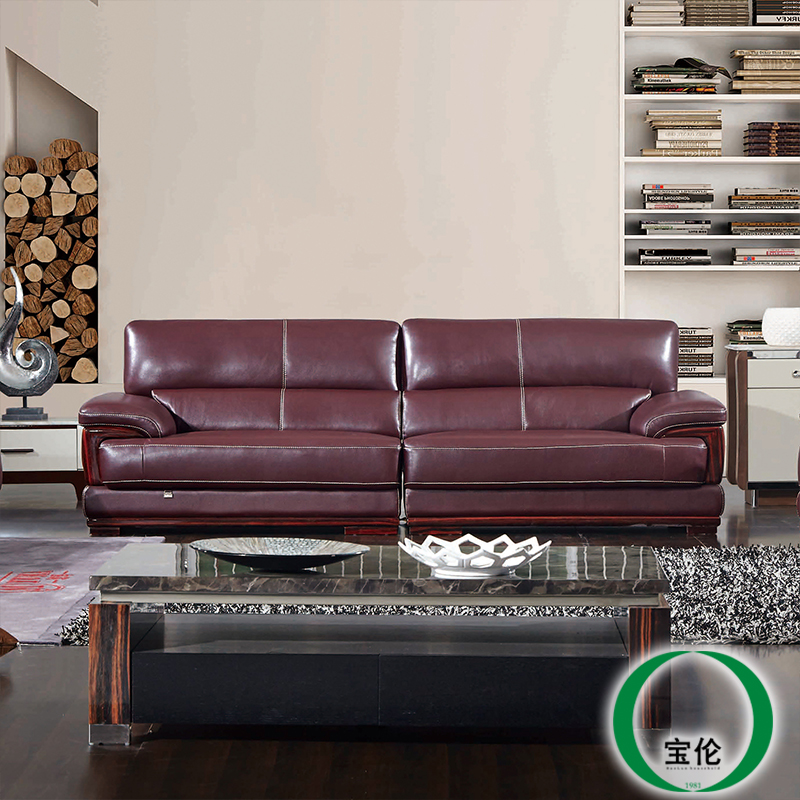 Bao lun big three down modern minimalist living room corner apartment imports in the first layer of thick leather sofa arts